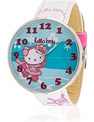 Hello Kitty Mädchen-Armbanduhr Yowara White Analog Quarz Kunstleder HK9004-361