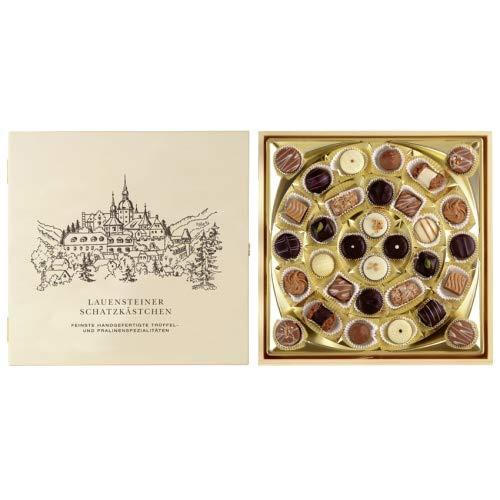 Lauensteiner Schatzkästchen | 400g feinste Trüffel und Pralinen ohne Alkohol, 16-fach sortiert | Ideales Geschenk für jeden Anlass