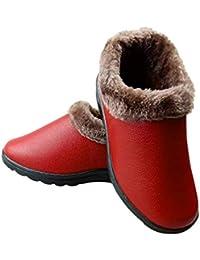24506e0cb8a10 HBDLH Scarpe da Donna Vecchia Pechino Cotone Scarpe Inverno Caldo Velveted  Cuoio Madre Impermeabile di