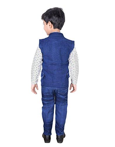 Vbirds V Birds® Kids Shirt Jeans and Jacket Clothing Set for Boys (Blue)