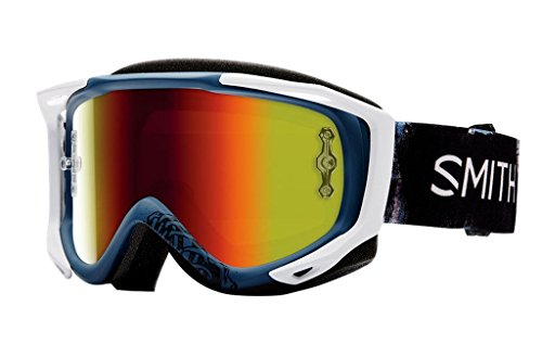 SMITH MX Goggle V2 SX Sketchy red mirror +gratis Extra Scheibe: clear