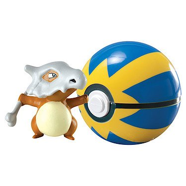 Pokemon Clip 'n' Carry Poke Ball - Cubone & Quick Ball by...