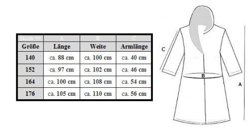 Kinder Bademantel Kuschel Soft Fleece Microfaser mit Kaputze & Taschen - 3