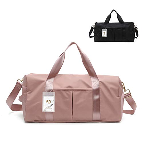 FEDUAN das Original, modische Marken Sporttasche rosa Reisetasche wasserdicht mit Schuhfach und Nassfach für Damen und Herren pink