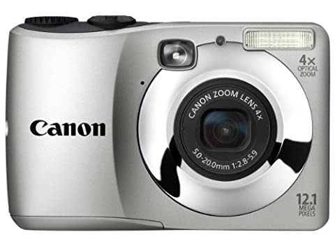 Canon PowerShot A1200 Digitalkamera (12,1 Megapixel, 4-fach opt, Zoom, 6,9 cm (2,7 Zoll) Display) silber