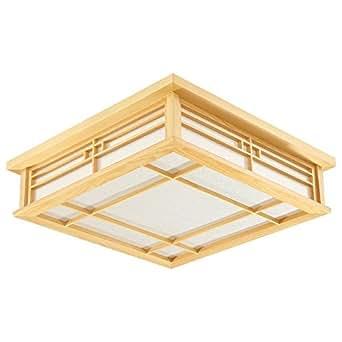 mmynl deckenlampe pendelleuchte f r schlafzimmer japanische deckenleuchte massiv holz lampe. Black Bedroom Furniture Sets. Home Design Ideas