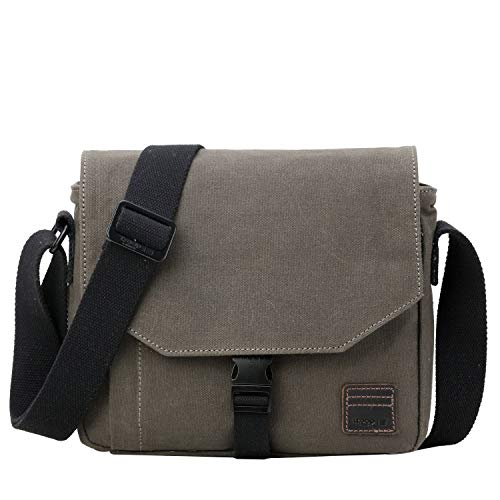 9ace2f666c Troop London TRP0471 - Borsa Messenger in Tela per Uomini e Donne, Borsa a  Tracolla