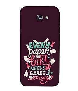 Snapdilla Designer Back Case Cover for Samsung Galaxy A3 (2017) A320 (Graphic Backcover Wallpaper Idea Art Sketch Colour Proverb )