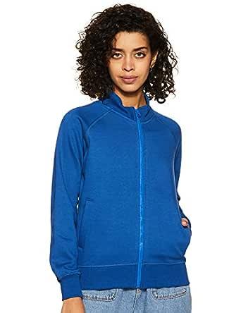 Amazon Brand - Symbol Women's Sweatshirt (AW18WNSSW04_Cobalt Blue_X-Small)