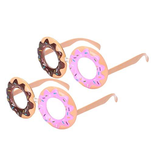 IPOTCH 2er Set Süß Donut Partybrille Spaßbrille Brille Gläser Foto Requisiten Party Kostüme