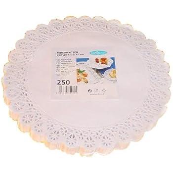 Tortenspitzen rund 10 cm 250 Stück weiß