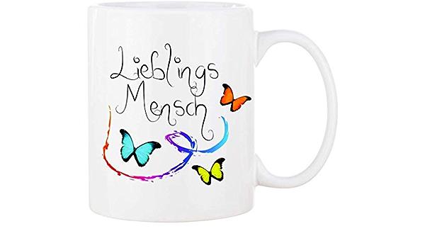 Blumen LIEBLINGSMENSCH Tasse Kaffeetasse Bürotasse Trinkbecher