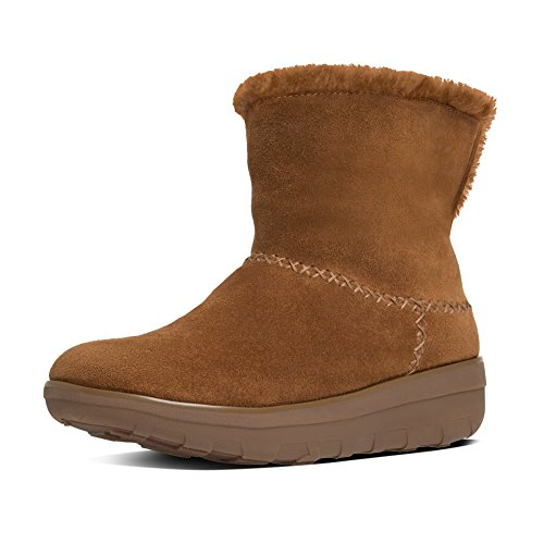 FitFlopTM Mukluk Shorty II Women's Casual Boots in Black and Chestnut 7 Chestnut