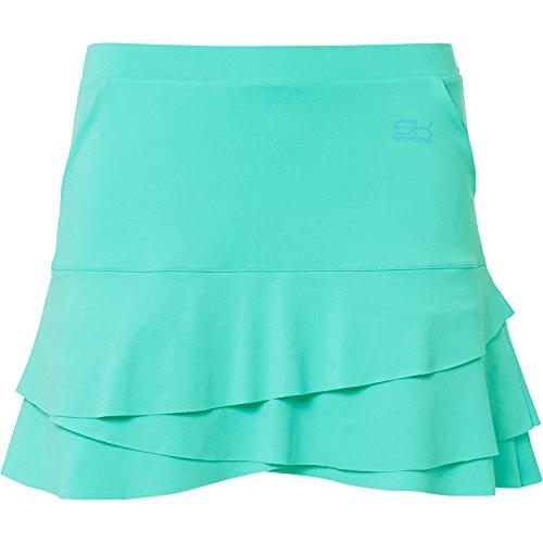 Sportkind Mädchen & Damen Tennis / Hockey / Golf Tulip Rock mit Taschen & Innenhose, mint, Gr. S