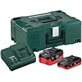 Metabo 685079000 Set de Base + 2 Batteries Chargeur, Vert