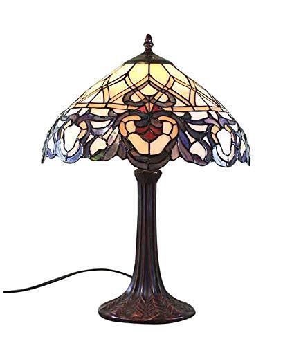 Graf von Gerlitzen Tiffany Stand Tisch Lampe Antik Style Tischlampe Tiffanylampe GN43-Anja (Antike Lampe Stand)