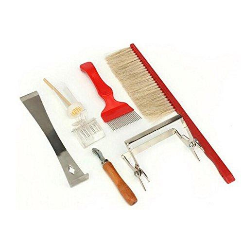 AmgateEu 7-teilig Bienenzucht Werkzeug-Set