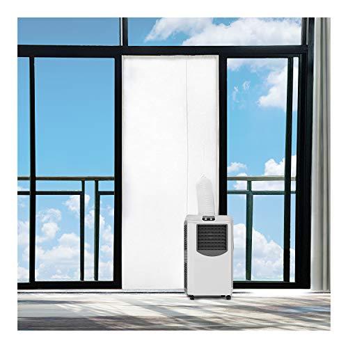 Rhodesy Aislamiento de Puerta para Aire Acondicionado, Kit de Sellado de Puerta de Aire Acondicionado portátil, Deflector de Sellado de Tela Puerta para Unidades de Aire Acondicionado Móviles