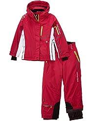 Peak Mountain Gauine/ya - Conjunto térmico de ropa interior para niña, color fucsia, talla FR : 10 ans (Talla fabricante : 10)
