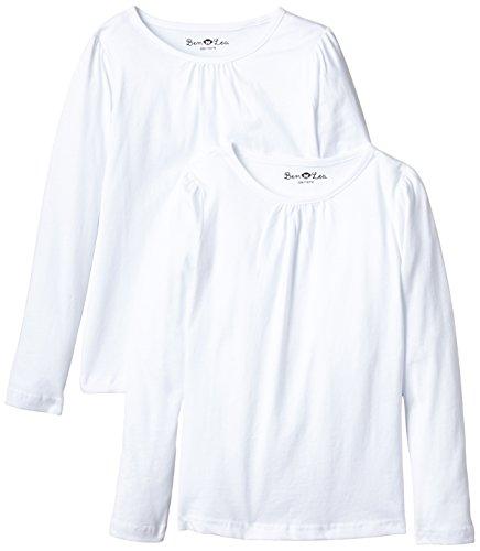 Ben & Lea Mädchen Langarmshirt, 2er Pack, Gr. 146 (Herstellergröße: 146/152), Weiß