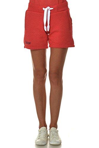 M.Conte Concetta donne breve Pantaloni Short Sweat-Pants della tuta di sport pantaloni blu Neon Pink Bianco Rosso S M L XL Rosso XL