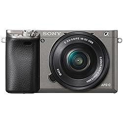 Sony ILCE-6000LH Appareil Photo numérique hybride 3 Mpix Autofocus ultra-rapide + Objectif rétractable 16-50 mm Gris Graphite