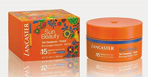Lancaster sun beauty tan deepener - tinted spf 15 200 ml abbronzante corpo intensivo protezione media