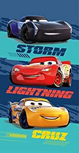 DisneyCars - Telo Mare Cars Storm Lightning Cruz, 100% Cotone, Dimensioni: 70 x 140 cm