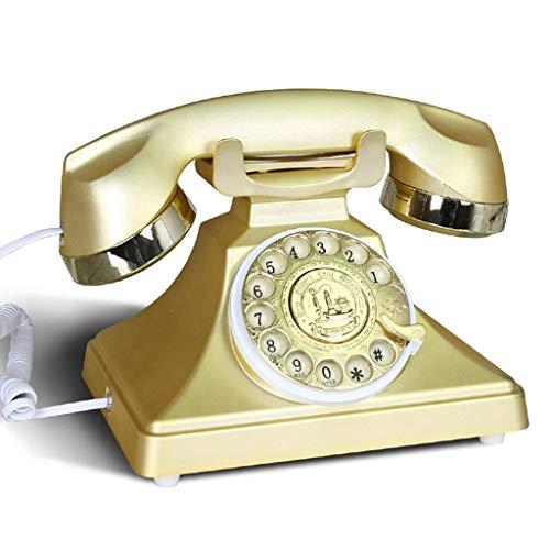 WENYAO Altmodisches Telefon, Europäisch/Büro/antike Basismaschine/mit Freisprecheinrichtung/Metalldrehung 22x18x20cm Mobiltelefon (Farbe: # 6) -