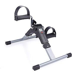 Mbuynow Pedaliera Ripiegabile Portatile Fitness Mini Bicicletta di Esercitazione Digitale LCD Per l'allenamento di Braccia e Gambe