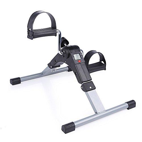 Evoland Pedaliera Ripiegabile Portatile Fitness Mini Bicicletta di Esercitazione Digitale LCD Per l'allenamento di Braccia e Gambe