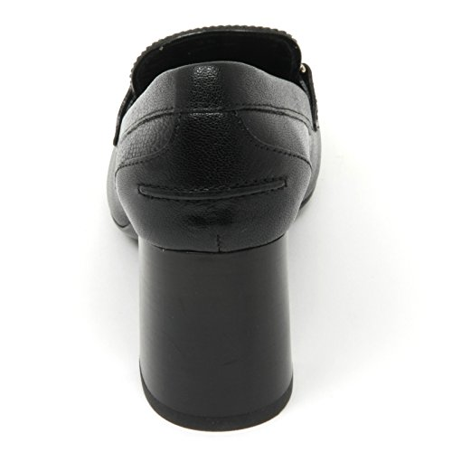 B9574 decollete donna TOD'S gomma T70 scarpa maxi doppia T nero shoe woman Nero
