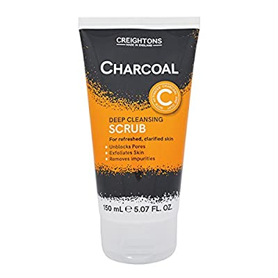 Charcoal Scrub | Deep Cleansing Scrub | For Refreshed, Clarified Skin | Deep Cleansing | Exfoliates Skin | Unblocks Pores | Removes Impurities | Exfoliator |150mL | Made In UK by creightons
