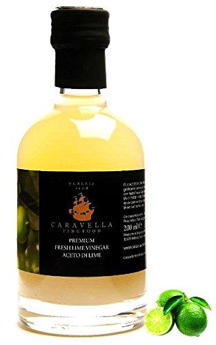 Caravella Prime KAFFIR LIME CITRON VERT Vinaigre de Fruits 200 ml directement de Venise