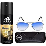 Adidas Victory League Deo Body Spray For Men 150ml And Tashan Assorted Sunglass Pack Of 2