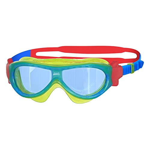Zoggs Unisex Jugend Phantom Kids Mask Schwimmbrille, Green/Blue/Tint, One Size