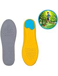 Purastep Sport Inserts Gel High Arch Support Shock Absorption & Cushioning Insoles for Plantar Fasciitis, Orthotic, Flat Feet - For Men & Women (Large)
