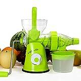SXWYZ Manuelle masticating Juicer - Original Entsafter Maschine für maximale Nährwert, gesunde Entsafter für alle Obst und Gemüse, leicht zu reinigen