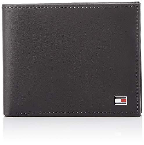 TOMMY HILFIGER Eton Mini CC Wallet BlackDatos:o Material: Cueroo Dimensiones: Ancho 10.5 cm, altura aprox 8,5 cm, profundidad de 1,5 cmo Color: Negro (Negro)o Fabricante: TOMMY HILFIGER