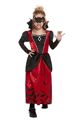Smiffys 51054M - Disfraz de vampiro para niña (talla M, 7-9 años), color negro