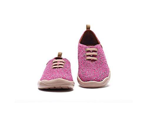 UIN Chaussure de Loafer de voyage de tricot Moguer des femmes Rose