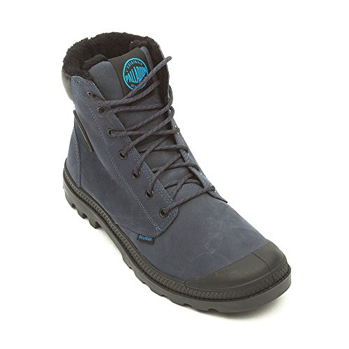 Palladium Pampa Sport Cuff WPS gefüttert Winterstiefel 02992-426 Leder blau Dark Denim Black