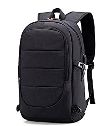 ae816112fc Zaino Laptop BstAmzStore 3in 1 con serratura, porta USB di ricarica,  interfaccia cuffie,