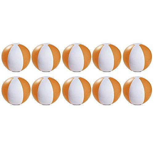 eBuyGB - Pack de 10 Bolas de Colores inflables para Juegos de Piscina de Playa, Naranja, 22 cm