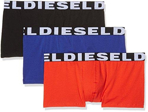 Diesel Herren Boxer 00SAB2 3 er Pack Mehrfarbig (Black/blue/red)
