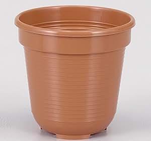 Geli Thermo Plastic - Vaso da fiori rotondo, in plastica