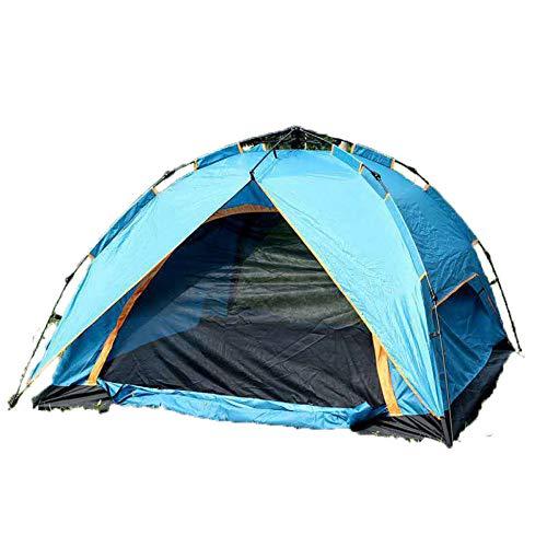 DLLzq Pops Up Outdoor Camping Zelt , Doppelschicht Tragbare Wasserdichte Und UV-Schutz Atmungsaktives Zelt Für Gartenfischen Picknick 3-4 Personen