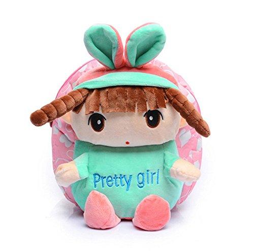 Preisvergleich Produktbild Kinder Baby Mädchen Niedlich Plüsch Puppen Buch Rucksack Rucksack Vorschule Kindergarten Schulranzen Kinder Schultertaschen