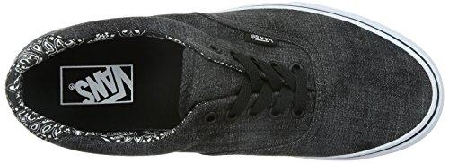 Vans U Era 59 Acid Denim, Unisex-Erwachsene Sneakers Schwarz (acid Denim/black/bandana)