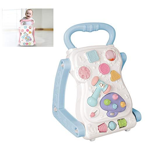 Andador para Bebés, Andador Multifunción, Andador Ajustable, Carrito De Múltiples Funciones para Niños Pequeños, Sentado con ABS Walker De Música 0-1 Años,A